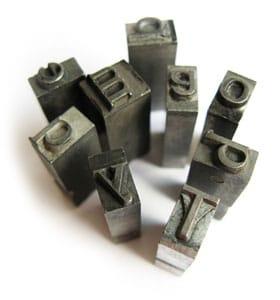 letterpress type sets